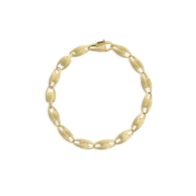 Lucia 18k yellow gold small link bracelet