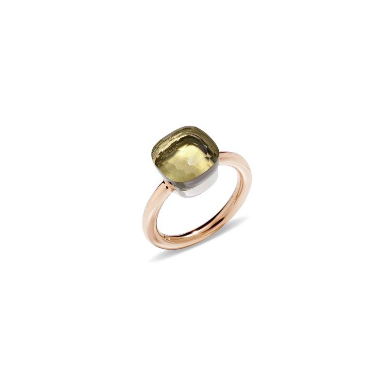 Pomellato Nudo 18k rose gold sky lemon quartz ring