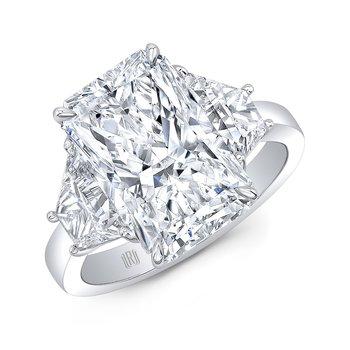 Platinum Radiant Cut Diamond Engagement Ring
