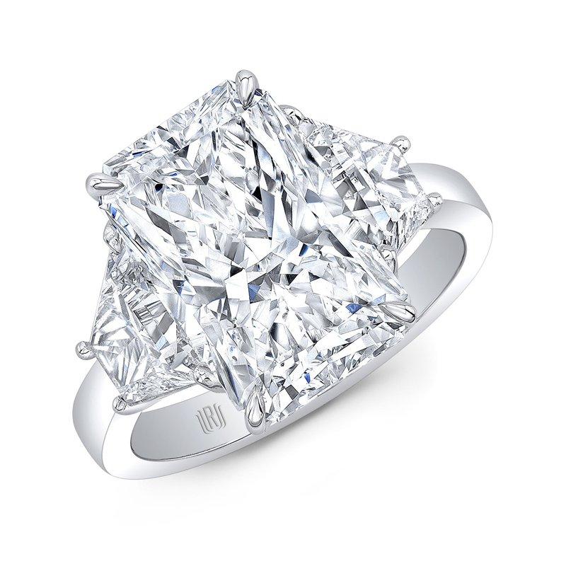 Rahaminov Platinum Radiant Cut Diamond Engagement Ring