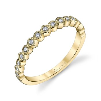 14k Gold Bezel Set Diamond Band