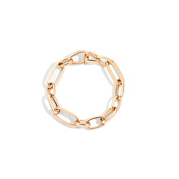 Iconica 18k rose gold link bracelet