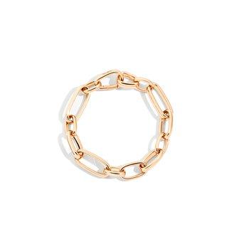 Iconica 18k rose gold link bracelet