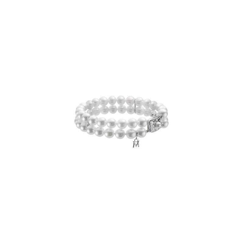 Mikimoto Double Strand Pearl Bracelet
