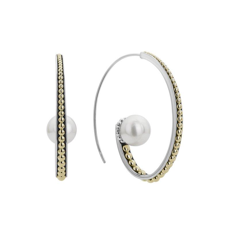 LAGOS Pearl Hoop Earrings