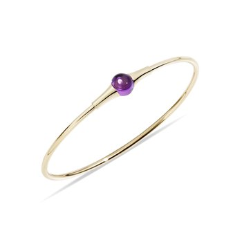 M'ama non m'ama 18k rose gold amethyst bangle