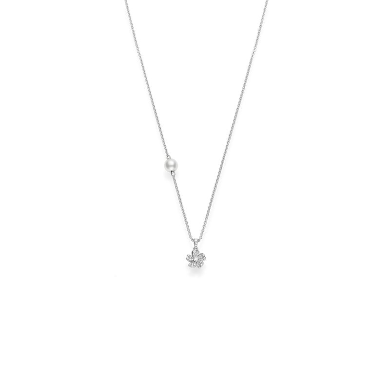 Mikimoto Akoya Pearl and Diamond Cherry Blossom Pendant