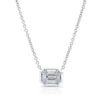 18k White Gold Kaleido Diamond Necklace