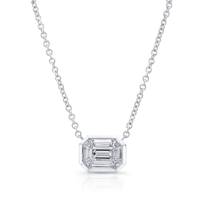 Rahaminov 18k White Gold Kaleido Diamond Necklace