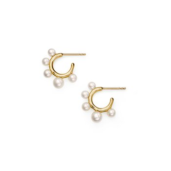 18k Nova Teeny Hoop Earrings