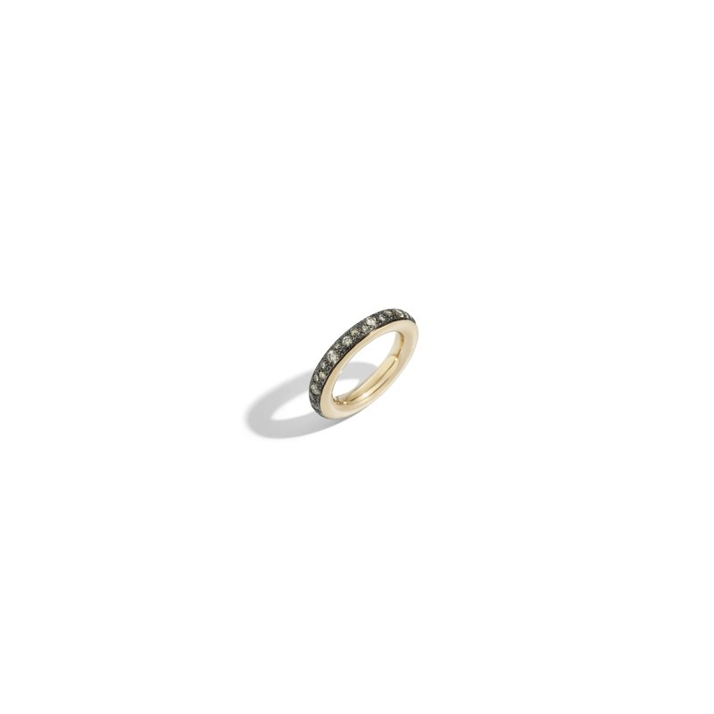 Pomellato Iconica 18k rose gold brown diamond ring