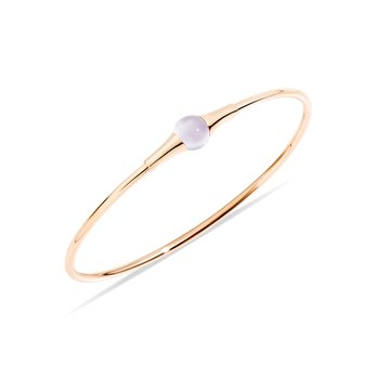 M'ama non m'ama 18k rose gold moonstone bangle