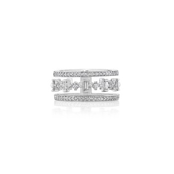 18k White Gold Floating Diamond Band
