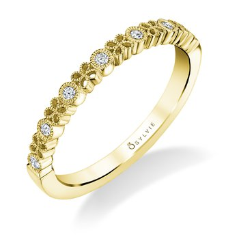 14k Gold Floral Inspired Diamond Band