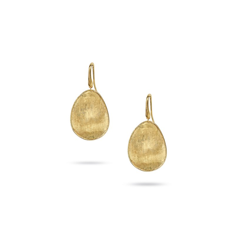Marco Bicego Lunaria 18k yellow gold medium drop earrings