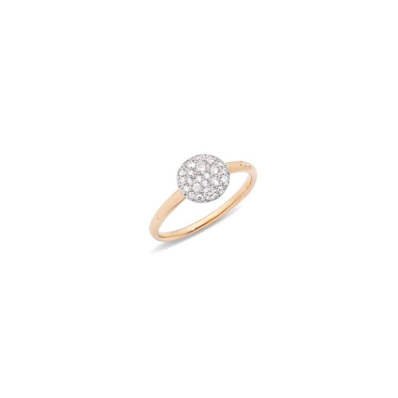 Pomellato Sabbia 18k rose gold diamond ring
