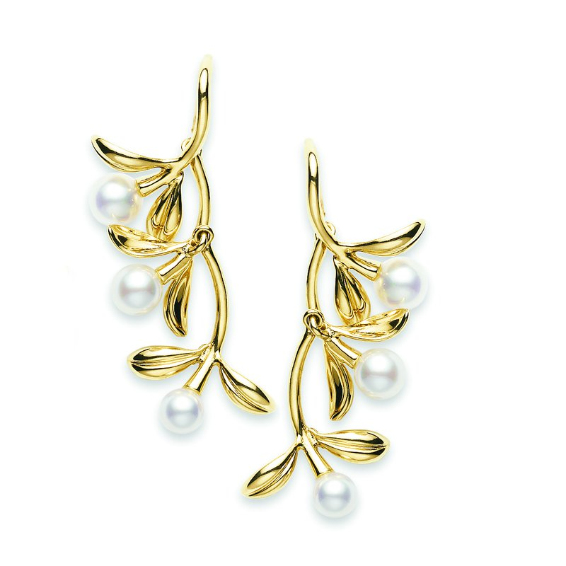 Mikimoto Pearl Drop Style Earrings