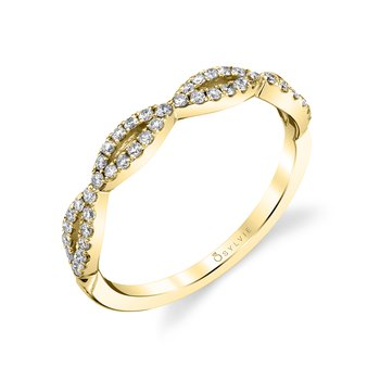 14k Gold Open Marquise Style Diamond Band