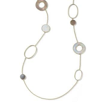 18k Polished Rock Candy Long Necklace