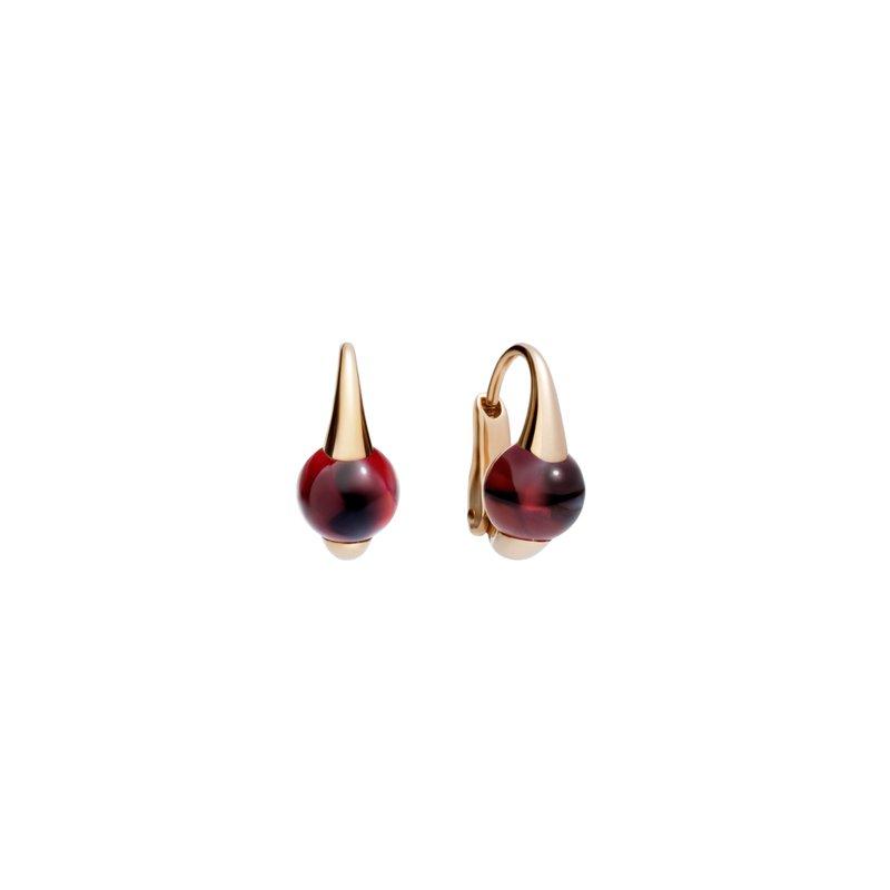 Pomellato M'ama non m'ama 18k rose gold garnet earrings