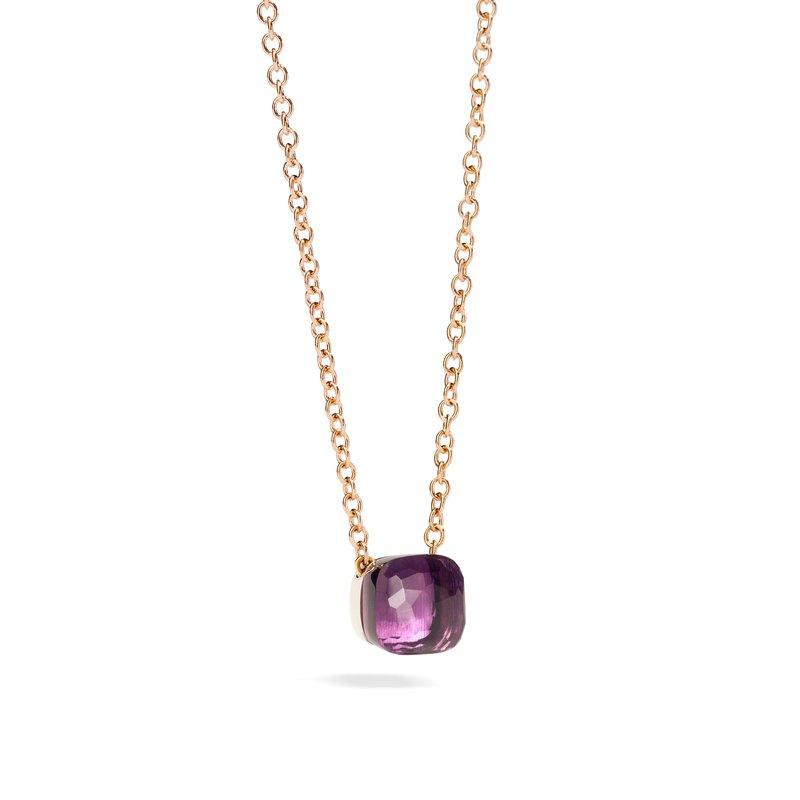 Pomellato Nudo 18k rose gold amethyst necklace