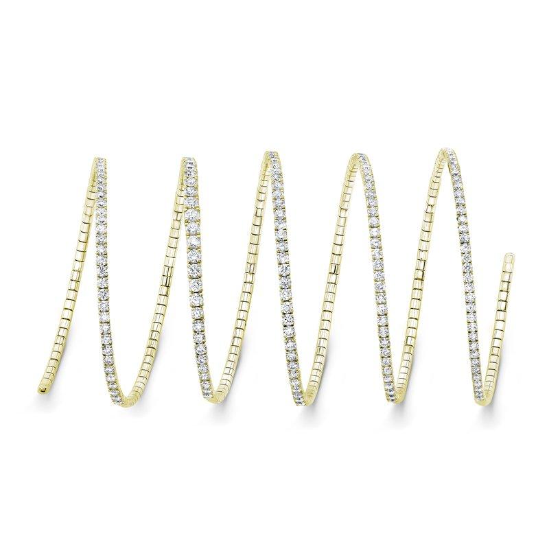 Rahaminov 18k Yellow Gold Diamond Coil Bracelet