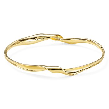 18K Classico Twist Ribbon Bangle Bracelet