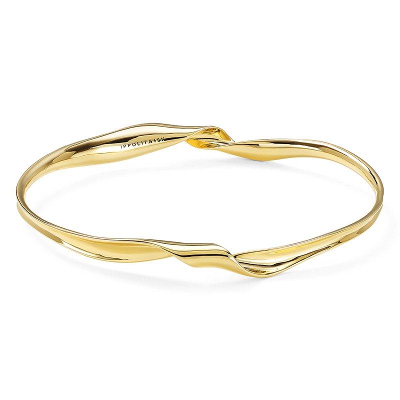 Ippolita 18K Classico Twist Ribbon Bangle Bracelet