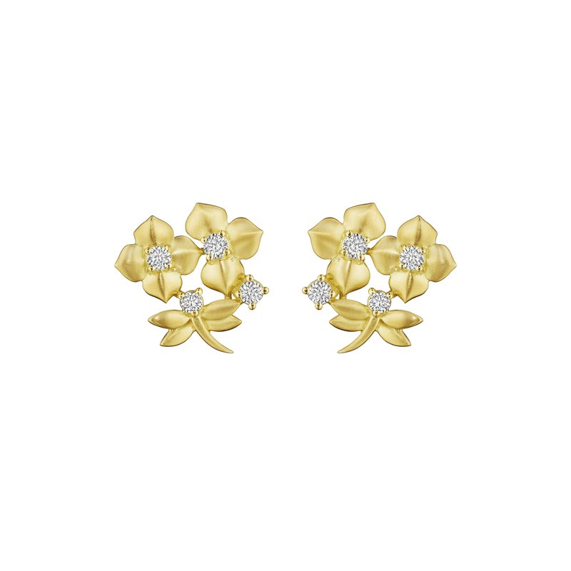 Penny Preville 18k Yellow Gold Garden Flower Earrings