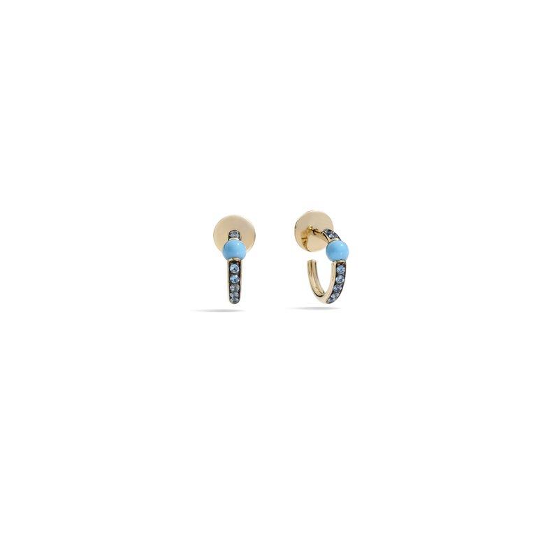 Pomellato M'ama non m'ama 18k rose gold turquoise earrings