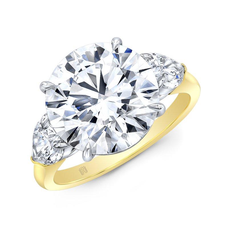Rahaminov 18k Yellow/White Gold Diamond Engagement Ring