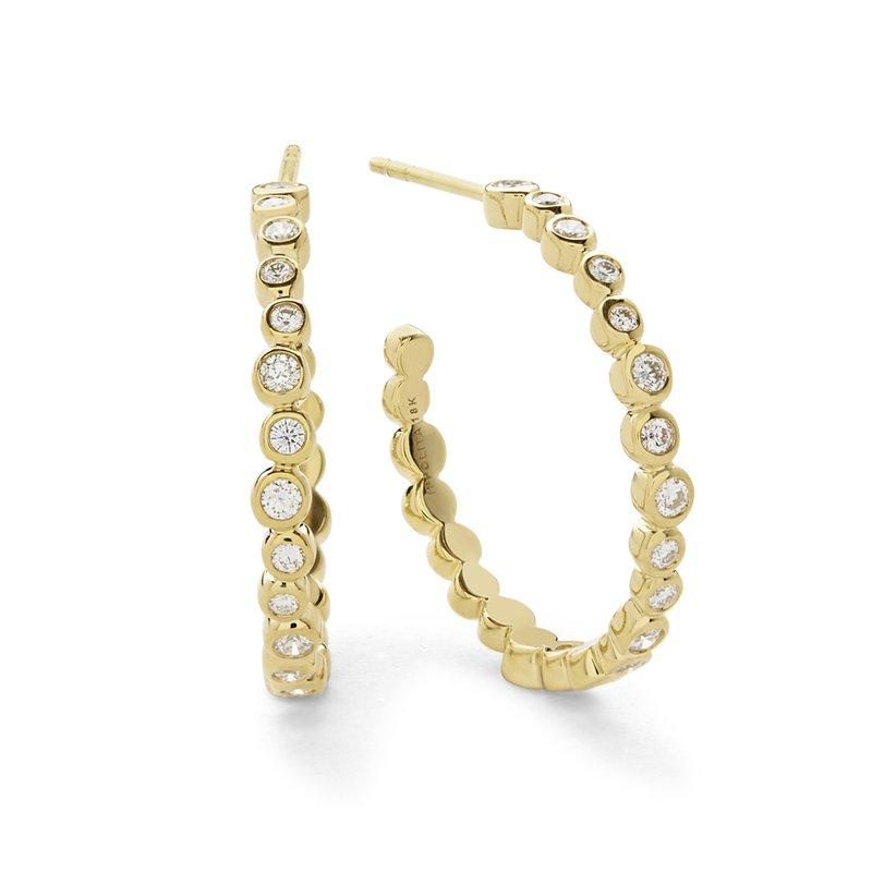 Ippolita 18k Starlet Medium Hoop Diamond Earring