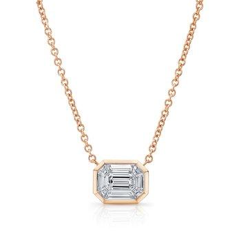 18k Rose Gold Kaleido Diamond Necklace