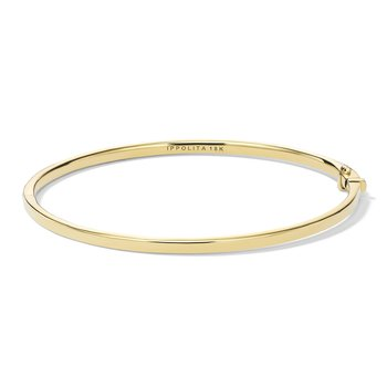 18k Stardust Thin Diamond Bangle