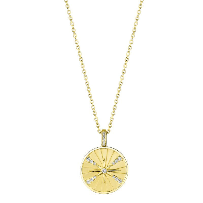 Penny Preville 18k Yellow Gold Diamond Star Medallion Necklace