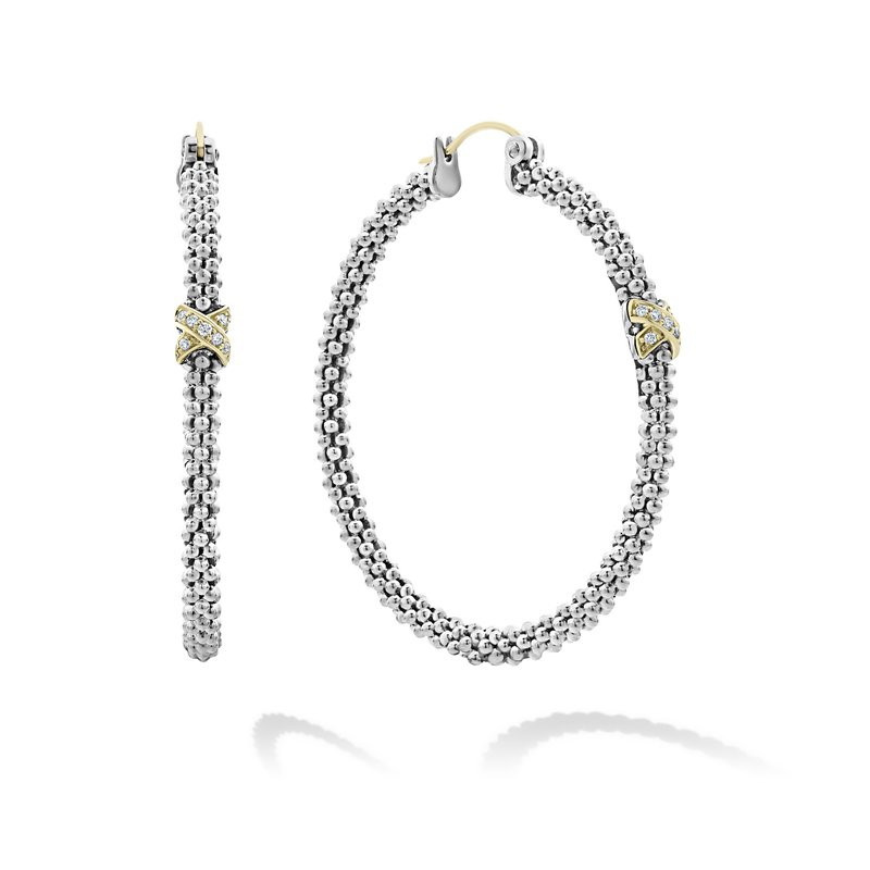 LAGOS Diamond Hoop Earrings