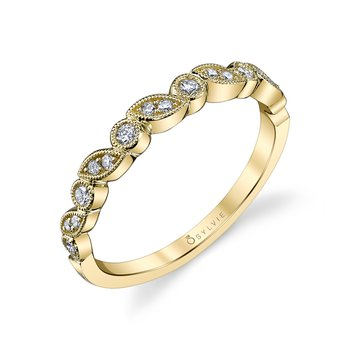 14k Gold Mixed Shape Stackable Diamond Band