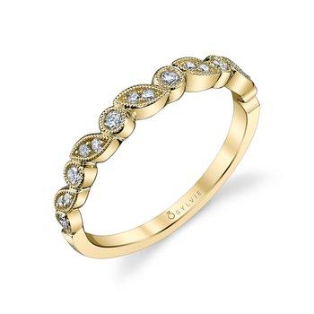 14k Gold Mixed Shape Stackable Diamond Band