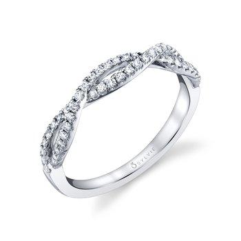 14k Gold Elyse Spiral Diamond Band
