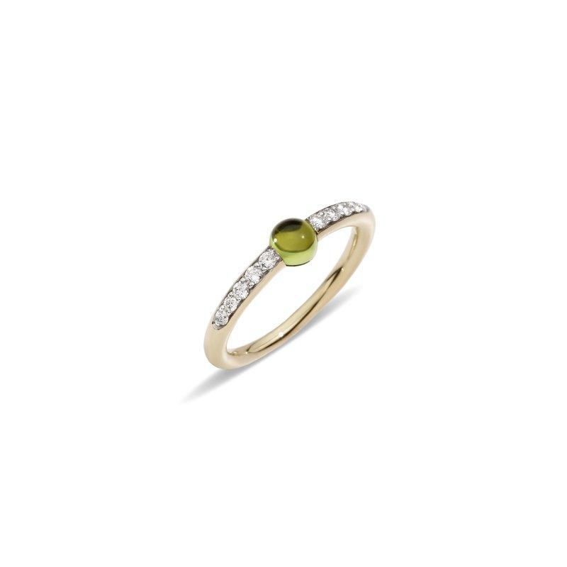 Pomellato M'ama non m'ama 18k rose gold peridot and and diamond ring ring