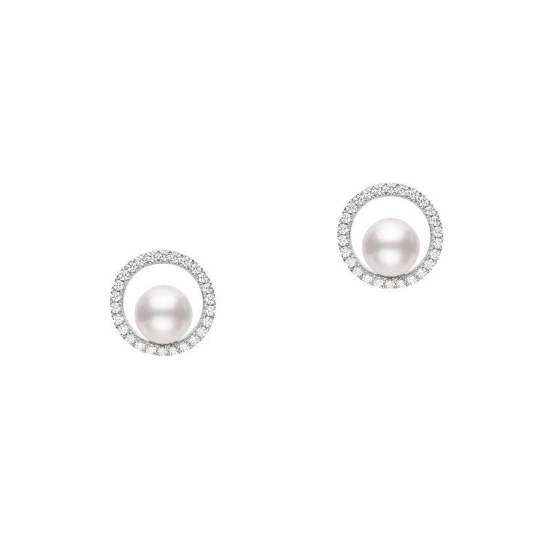 Mikimoto Akoya Classic Diamond Earrings
