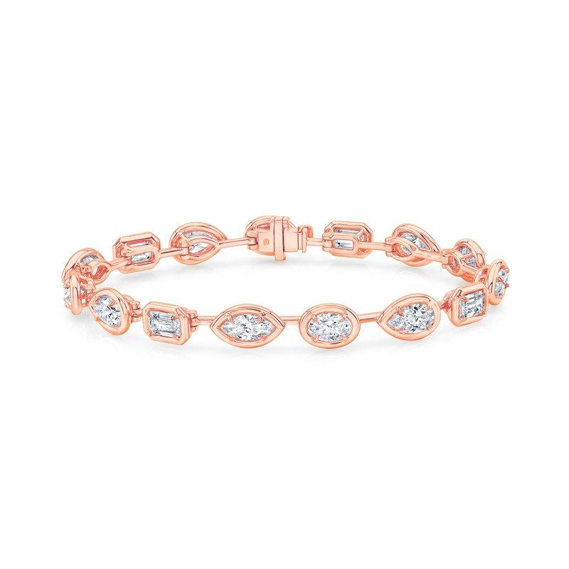 Rahaminov 18k Rose Gold Multi-shape Diamond Bracelet