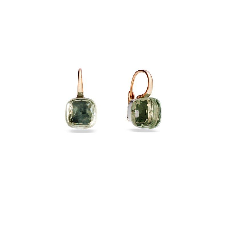 Pomellato Nudo 18k rose gold prasiolite earrings