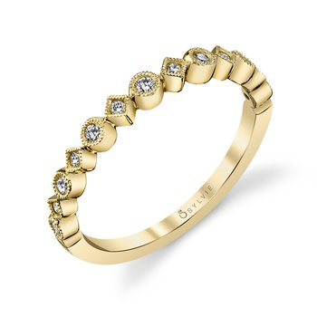 14k Gold Diamond Stackable Band