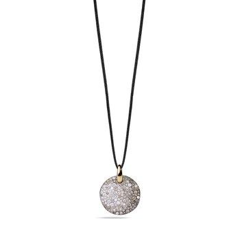Sabbia 18k rose gold brown/white diamond pendant