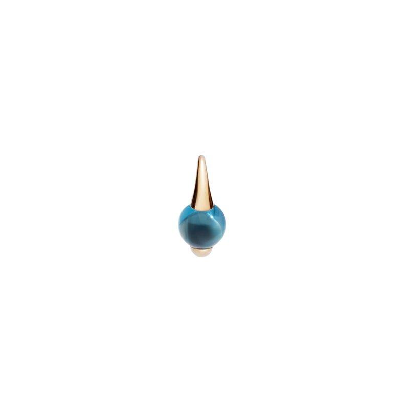 Pomellato M'ama non m'ama 18k rose gold london topaz earrings
