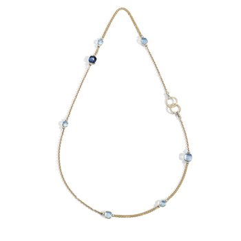 Nudo 18k rose gold mixed gemstone long necklace