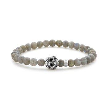 Gemstone Skull Bracelet