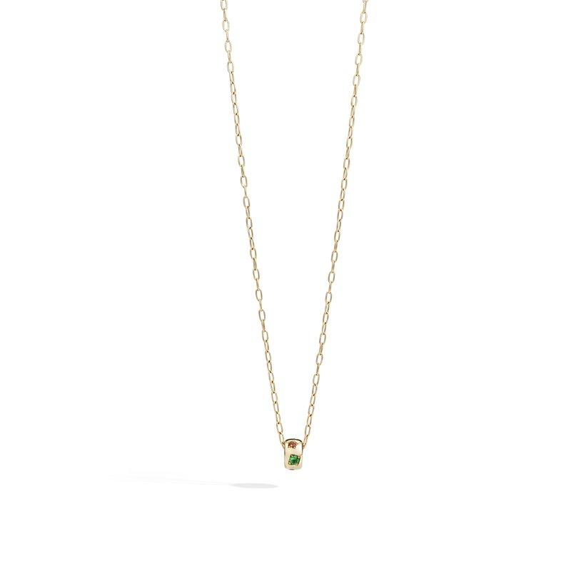 Pomellato Iconica 18k rose gold gemstone necklace