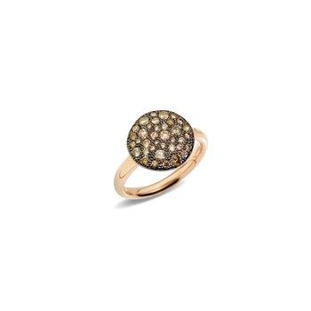Sabbia 18k rose gold brown diamond ring